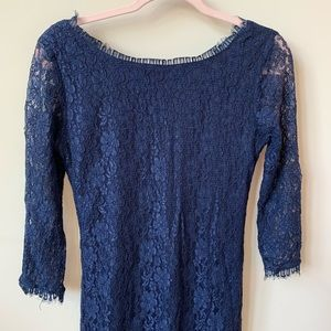 THML all over lace 3/4 sleeve mini dress #530